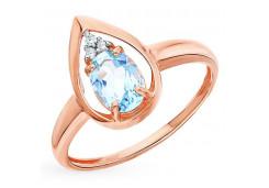 Женские золотые кольца с топазом 127865