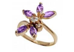 Золотые кольца с аметистом 125998