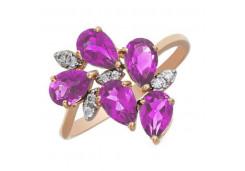 Золотые кольца с аметистом 119858