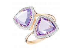 Золотые кольца с аметистом 119860