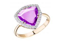 Золотые кольца с аметистом 119861