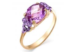 Золотые кольца с аметистом 90788