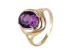 Золотые кольца с аметистом 103394