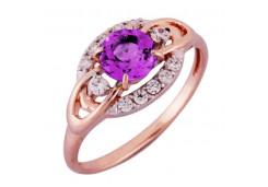 Золотые кольца с аметистом 129949