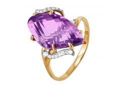 Золотые кольца с аметистом 99969