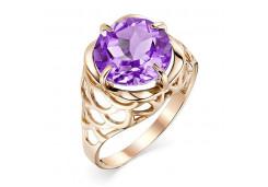 Золотые кольца с аметистом 131432