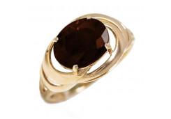 Золотые кольца с раух-топазом 119844