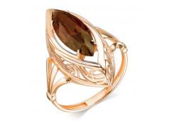 Золотые кольца с раух-топазом 105950