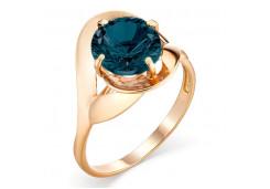 Кольцо из красного золота 585 пробы с лондон топазом