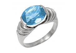 Женские золотые кольца с топазом 132181