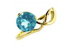 Кольцо из желтого золота 585 пробы с топазом