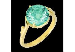 Кольцо из желтого золота 585 пробы с аквамарином