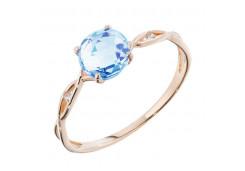 Женские золотые кольца с топазом 90356