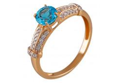 Женские золотые кольца с топазом 130028