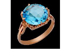 Женские золотые кольца с топазом 40467