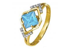 Золотое кольцо с топазом