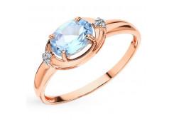 Женские золотые кольца с топазом 127700