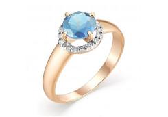 Женские золотые кольца с топазом 131665