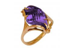 Золотые кольца с аметистом 40986