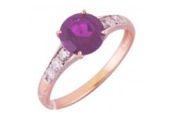 Золотые кольца с аметистом 129950