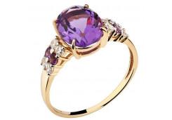 Золотые кольца с аметистом 129948