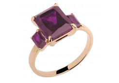 Золотые кольца с аметистом 129951