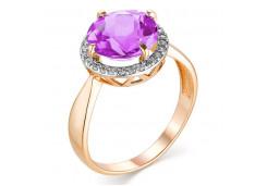 Золотые кольца с аметистом 131422