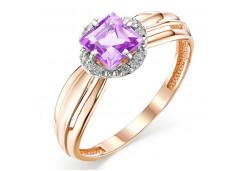 Золотые кольца с аметистом 131447