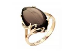 Золотые кольца с раух-топазом 52028