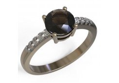 Золотые кольца с раух-топазом 129921
