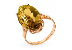 Кольцо из красного золота 585 пробы с султанитом