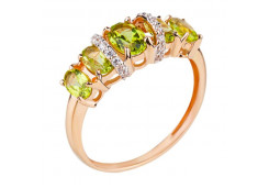 Золотое кольцо с хризолитом