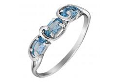 Серебряные кольца с топазом 116158