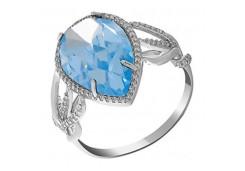 Серебряные кольца с топазом 112892