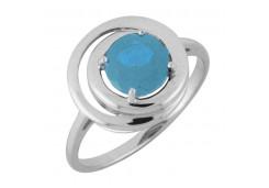 Серебряные кольца с топазом 106466