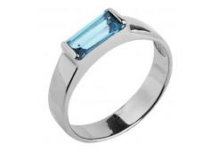 Серебряные кольца с топазом 106445