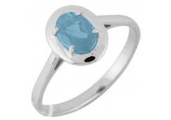 Серебряные кольца с топазом 106371
