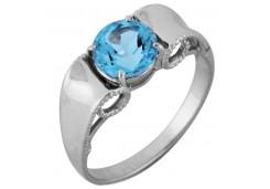 Серебряные кольца с топазом 106434