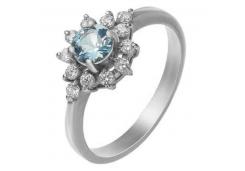Серебряные кольца с топазом 98598