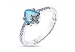 Серебряные кольца с топазом 109484