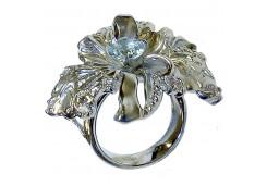 Кольцо из серебра 925 пробы с топазом