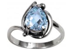 Серебряные кольца с топазом 115543