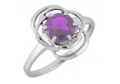 Серебряные кольца с аметистом 122195