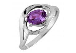 Серебряные кольца с аметистом 122233