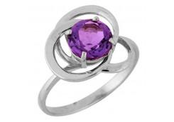 Серебряные кольца с аметистом 122359
