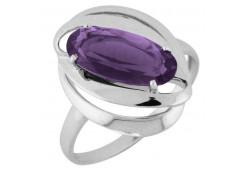 Серебряные кольца с аметистом 106470
