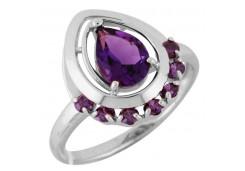 Серебряные кольца с аметистом 106483