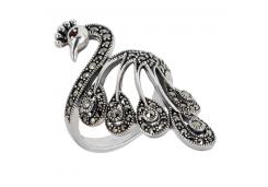 Женские кольца из серебра с гранатом 124824