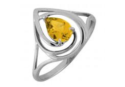 Серебряное кольцо с цитрином