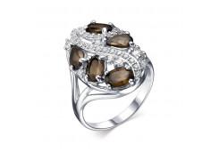 Кольцо из серебра 925 пробы с раух-топазом